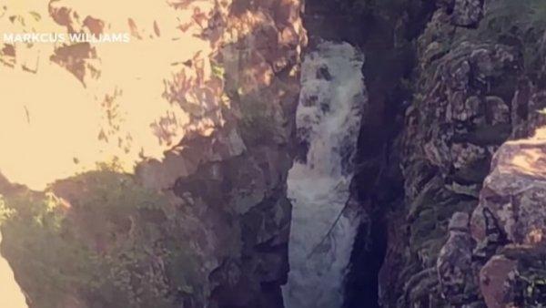 В водопаде показалось лицо призрака