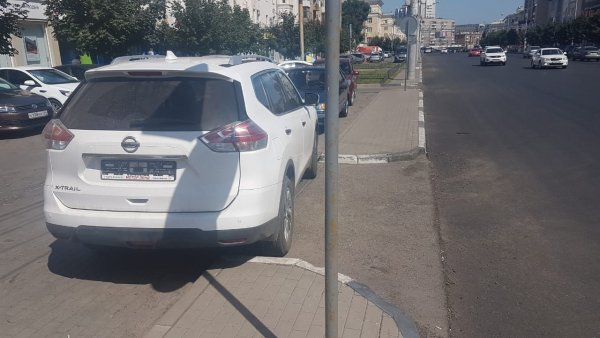 «Тюремная» парковка авто без номеров взбесила воронежцев