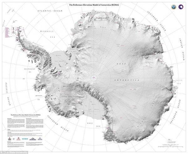 Ученые из США создали точнейшую карту Антарктиды