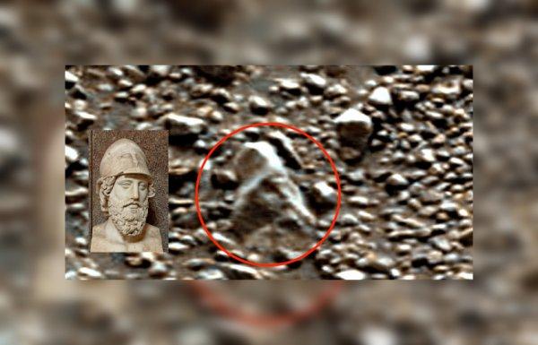 Уфолог нашел на Марсе голову древнеримской статуи