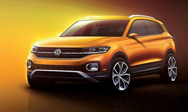 Volkswagen опубликовал видеотизер самого маленького кроссовера Volkswagen T-Cross